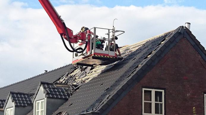 Reparaties na de stormschade
