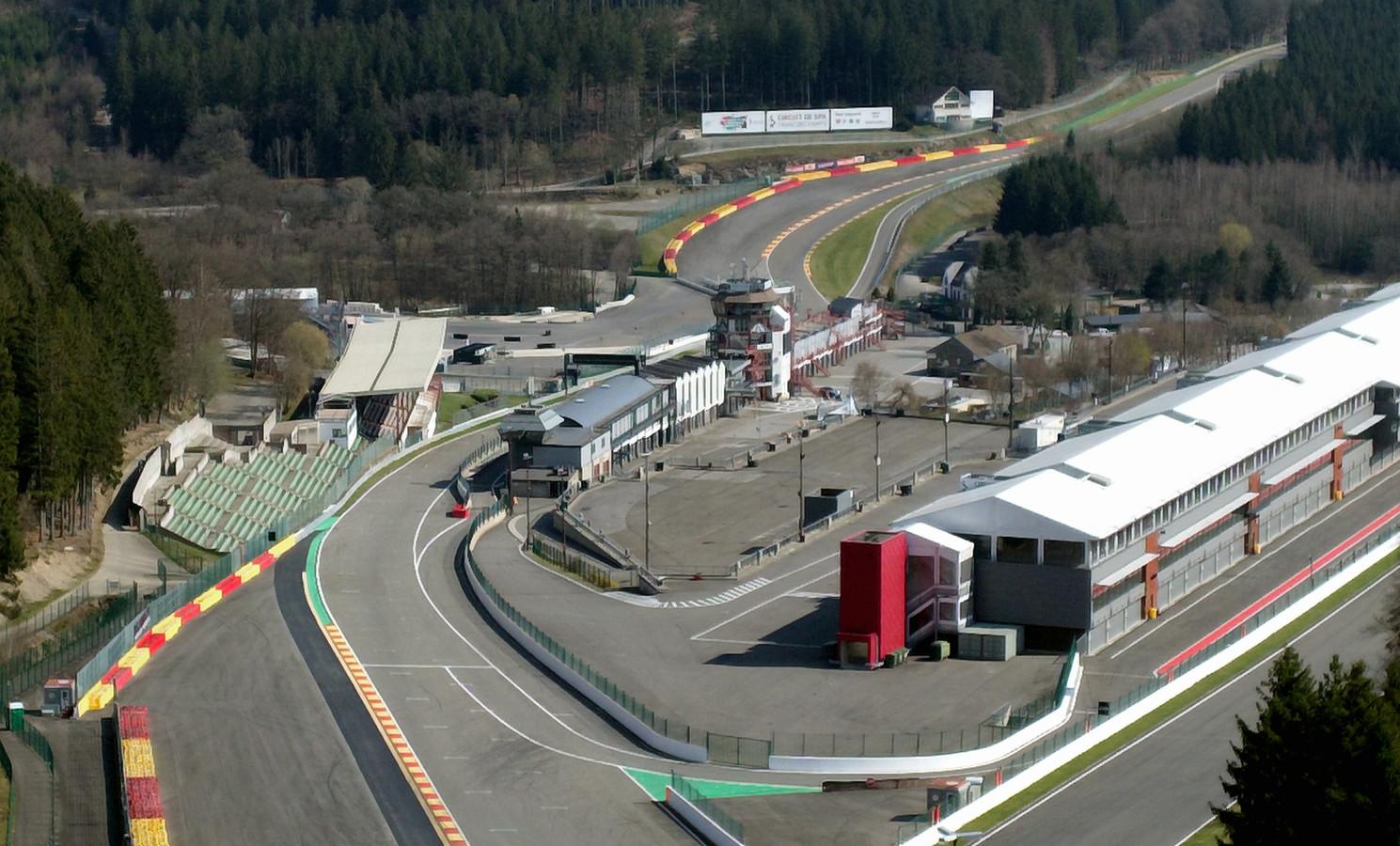 Het circuit van Spa-Francorchamps. Archiefbeeld.