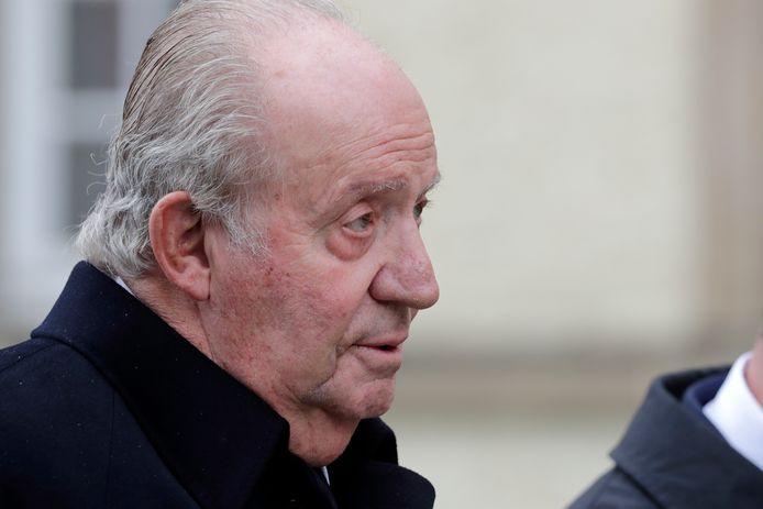 De uit Spanje vertrokken koning Juan Carlos.