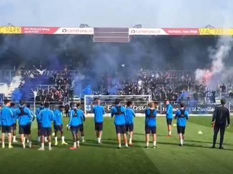 Fanatieke PEC-aanhang zorgt voor spektakel bij laatste training voor IJsselderby