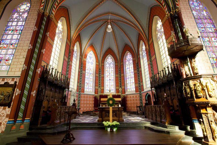 De Sint-Pieterskerk in Koksijde.