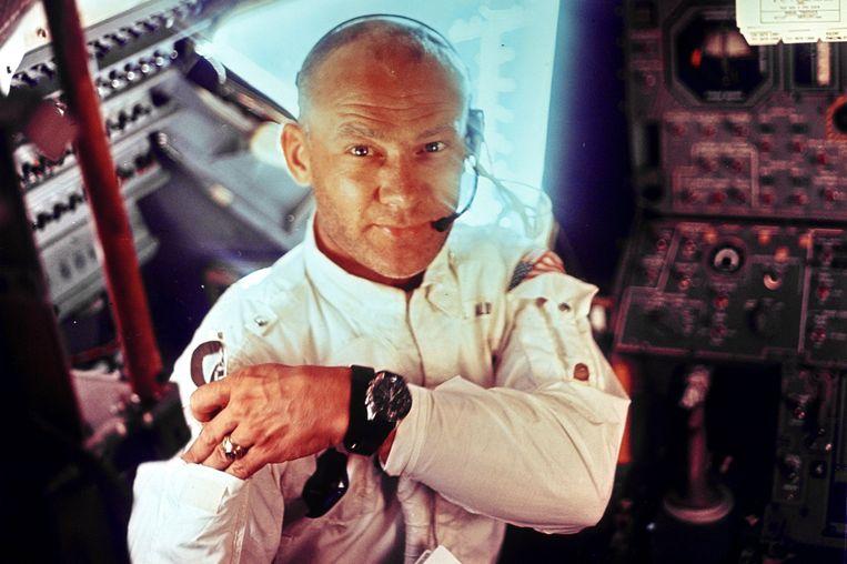 Apollo 11-astronaut Edwin 'Buzz' Aldrin, de tweede mens op de maan. Beeld Photo News