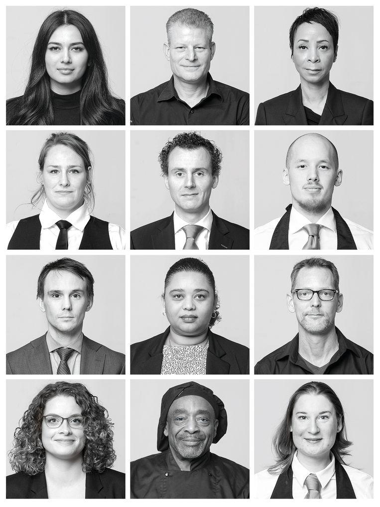 Medewerkers Beurs van Berlage, Centrum, dinsdagmiddag Beeld Michiel van Nieuwkerk