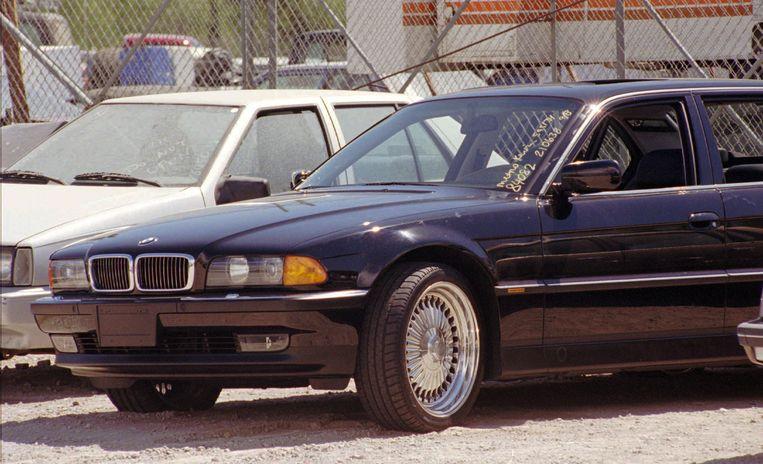 De auto waar Tupac op de nacht van de moord in zat.  Beeld AP