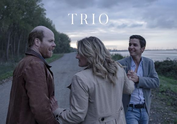 Matteo Simoni, Bruno Vanden Broecke en Ruth Beeckmans in 'Trio'.