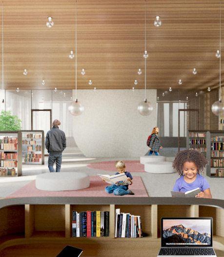Zo zal het nieuwe dienstencentrum in Gentbrugge er gaan uitzien: een wijkbibliotheek met leescafé, een muziekschool en publieke werkplekken
