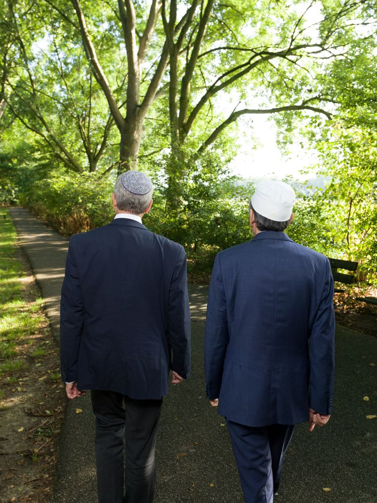 Rabbijn Menno ten Brink en Imam Marzouk Aulad Abdellah Beeld Ivo van der Bent