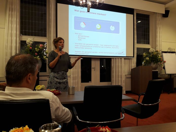 Miranda Groot licht de lichte samenvoeging van het dorp Haaren bij Oisterwijk toe.