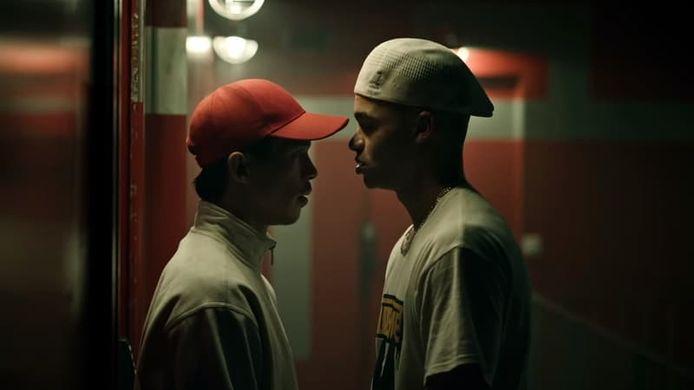 Les jeunes acteurs Théo Christine et Sandor Funtek dans les rôles de JoeyStarr et Kool Shen.
