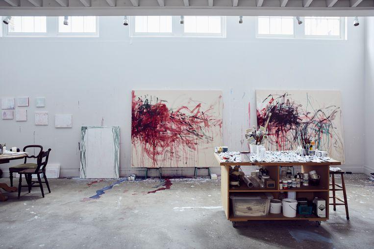 In de studio van Tracey Emin. Beeld Alun Callender / The Sunday Times Magazine
