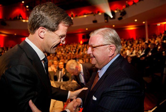 Mark Rutte en Henry Keizer in 2014.