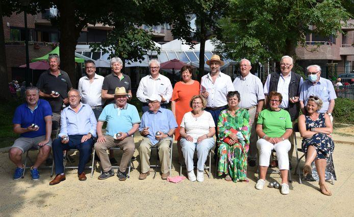 Inhuldiging petanquebanen aan Vandernoot park - Ter Borre in Strombeek.