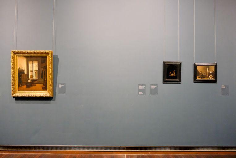 Kunstwerken worden tegen het vocht beschermd of ergens anders in het museum gehangen.