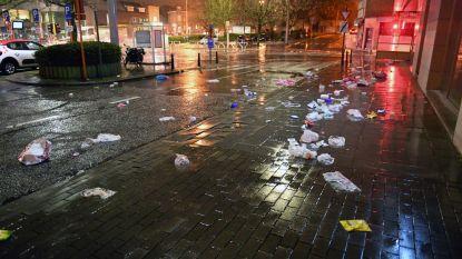 Herestraat volledig vol met vuilnis