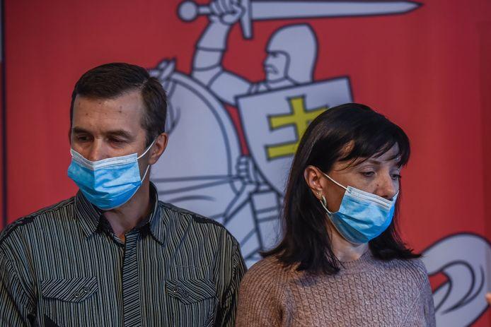 De ouders van Roman Protasevitsj maken zich zorgen om hun opgepakte zoon.