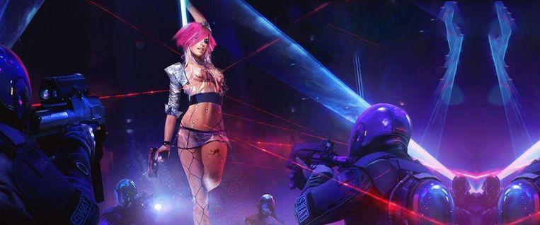 De vrouwenrollen hebben in Cyberpunk 2077 soms verdomd weinig om het lijf. Beeld CD Project
