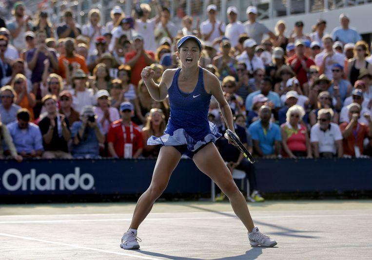 De 15-jarige Amerikaanse tennisster Cici Bellis. Beeld AP