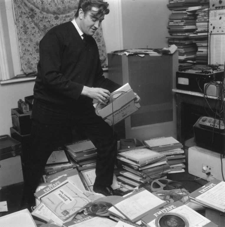 Joe Meek in zijn slaapkamerstudio Beeld Getty Images