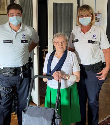 Frieda (83) bedankt helden persoonlijk nadat ze haar arm brak