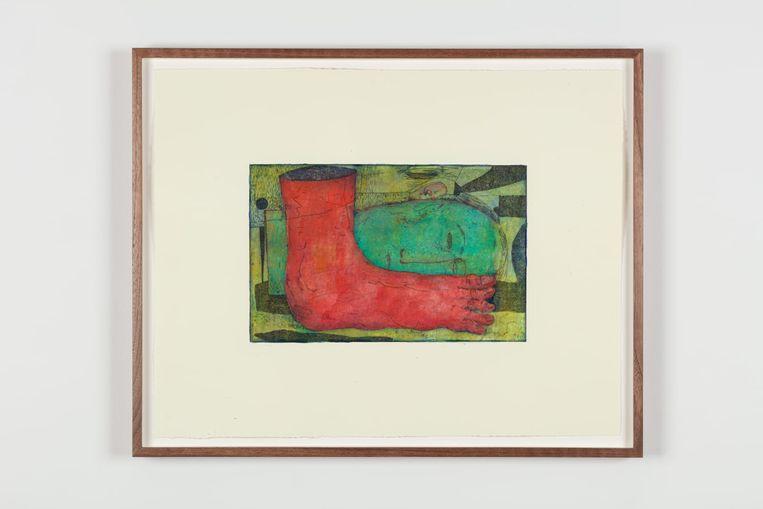 Werk van Volker Hüller, Untitled, 2021. Beeld Sonia Mangiapane / Grimm Gallery