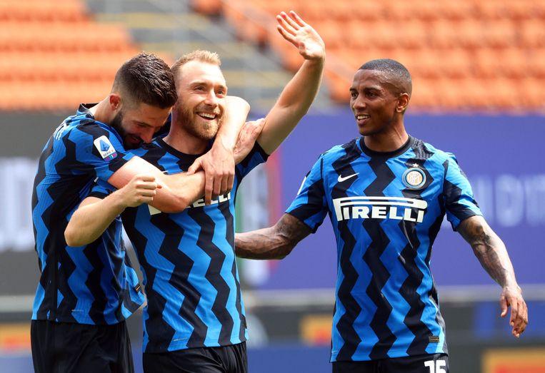 Christian Eriksen speelt sinds januari 2020 voor Inter. Beeld EPA