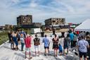 Borrel ter gelegenheid van de start van de bouw van FortVier in Schuytrgraaf, vorig jaar zomer.