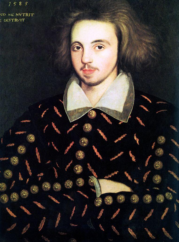 Dit zou een portret van Christopher Marlowe zijn. Beeld BELGAIMAGE
