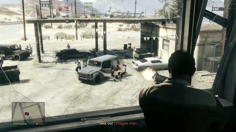 In games als 'Grand Theft Auto V' is het zaak om de 'health' van uw personage in de gaten te houden. Beeld Rockstar Games