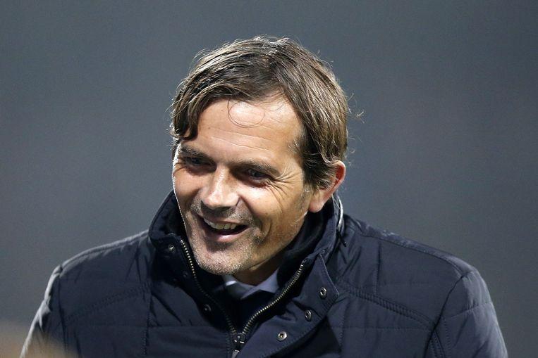 PSV coach Phillip Cocu na de wedstrijd tegen SC Cambuur. Beeld anp