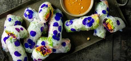 Wat Eten We Vandaag: Flower spring rolls