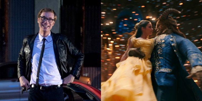 Stephen Merchant nam een cameo op in 'Beauty and the Beast'. Beeld RV (HBO/Disney)