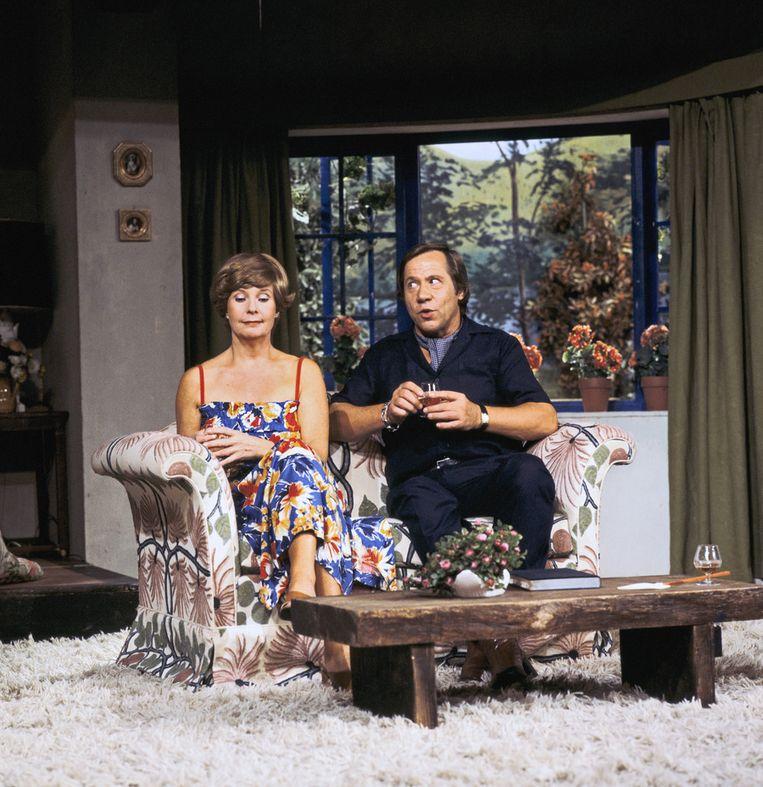 Scène met Kitty Janssen en Piet Romer in 1978 Beeld ANP