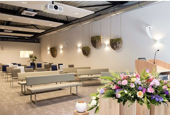 De nieuwe aula van Uitvaartzorg Barthels.