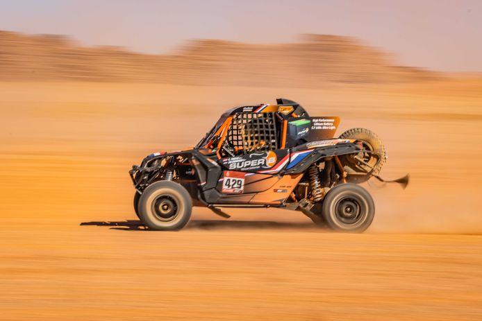 2020-01-07 12:12:13 NEOM - Kees Koolen en Jurgen van den Goorbergh in actie tijdens de derde etappe van de Dakar Rally 2020. ANP DAKARPRESS