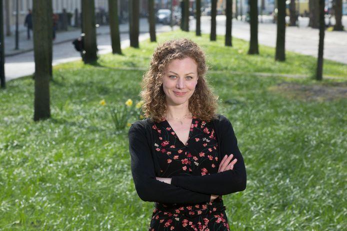Lijsttrekker partij voor de dieren Christine Teunissen.(Den Haag 11-04-17) Foto:Frank Jansen