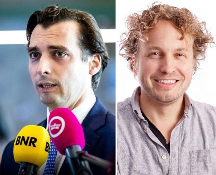 Van het gedrag van partijleider Thierry Baudet (links) zou Forum voor Democratie zich in Brabant niets aantrekken. Columnist Niels Herijgens zag deze week iets heel anders.