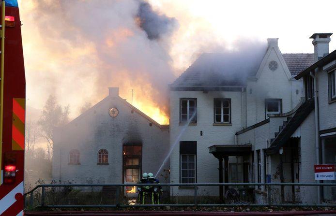 De brand in het monumentale pand in Boxtel.