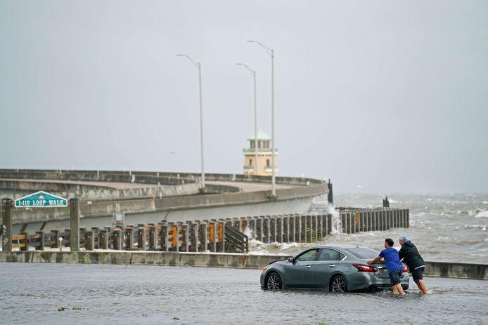 Ook in Biloxi in de staat Mississippi is er wateroverlast.