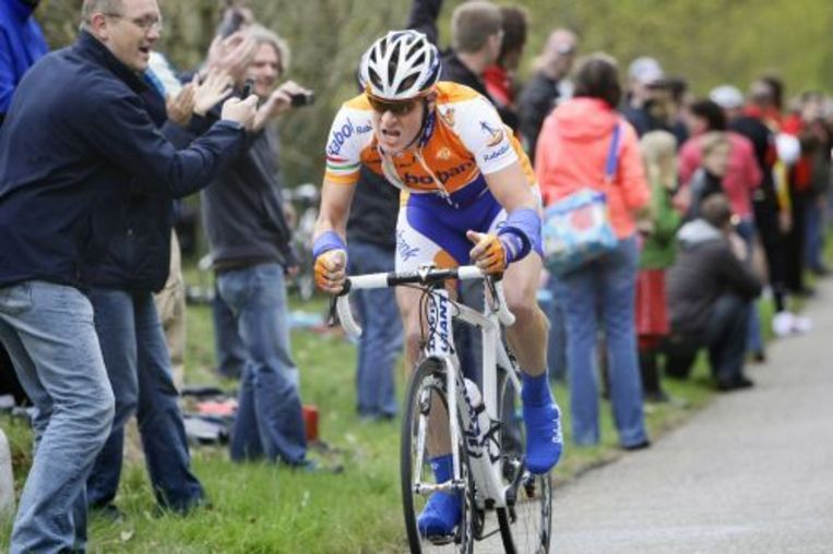 Raborenner Rick Flens tijdens de tweede etappe van de Giro d'Italia. ANP Beeld