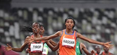 Hassan opgelucht na bereiken finale 5000 meter: 'Het is zwaar, ik ben blij dat ik door ben'