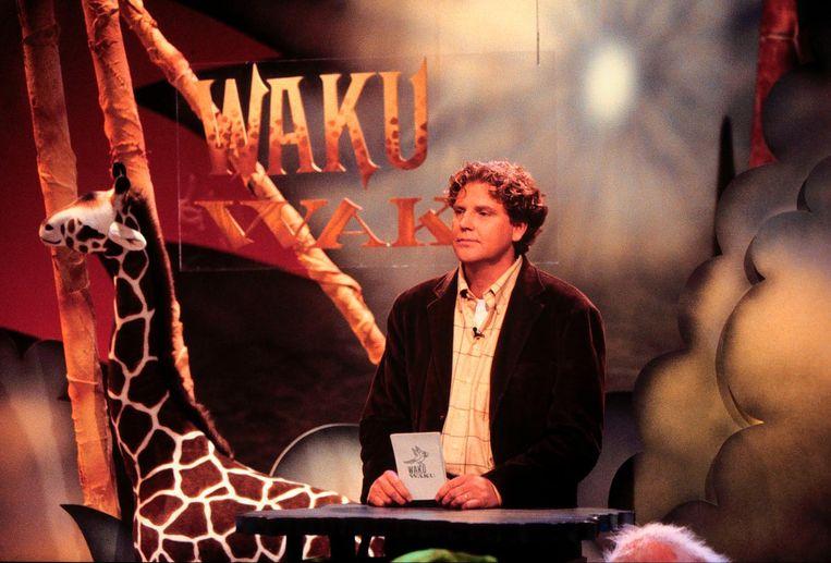 Sybrand Niessen als presentator van Waku Waku. Beeld ANP Kippa