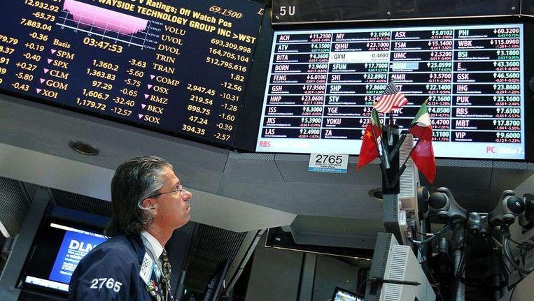 De beurzen op Wall Street, New York Beeld afp