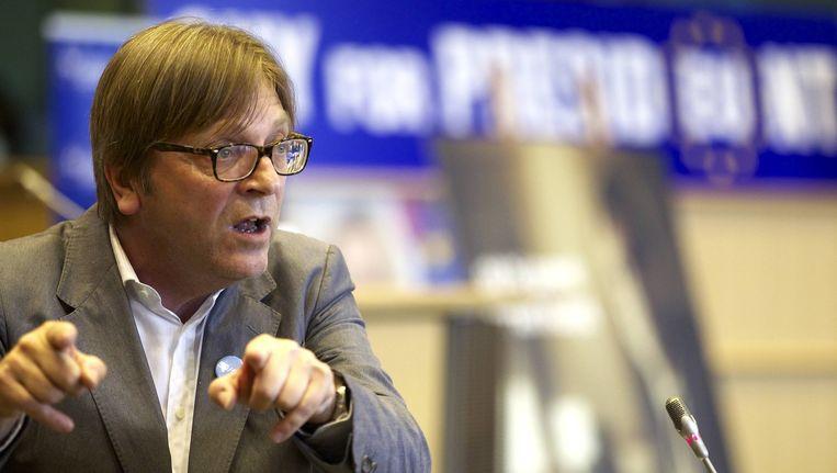 Europees liberaal fractieleider Guy Verhofstadt.