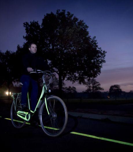 Lichtgevend fietspad in Zoetermeer