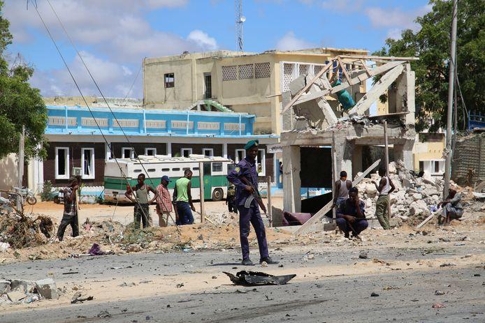 Eind vorige maand werd een ander politiebureau in Mogadishu nog opgeblazen door een autobom.