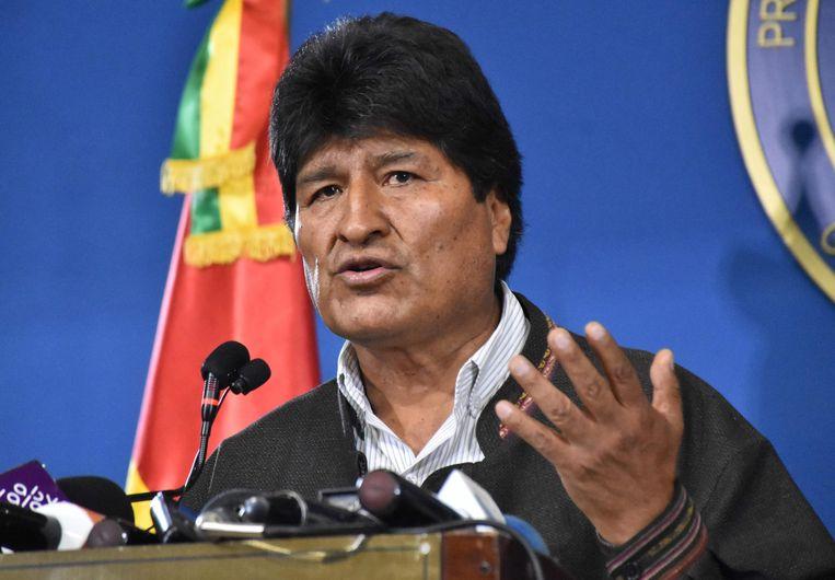 Evo Morales. Beeld AFP