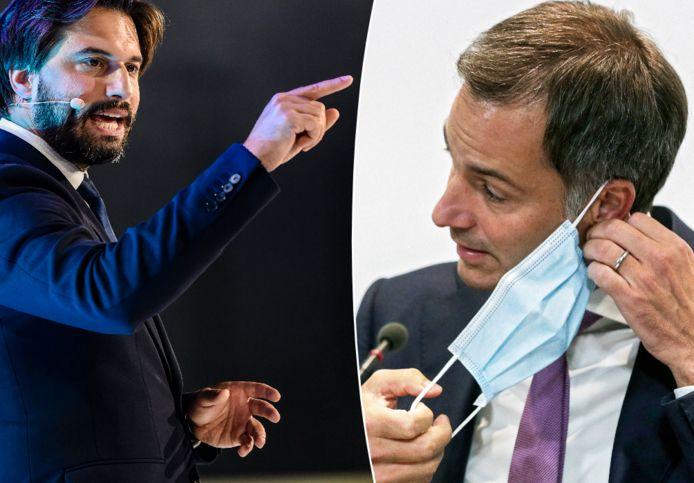 Georges-Louis Bouchez, de voorzitter van regeringspartij MR, is het niet eens met de kritiek die premier Alexander De Croo (Open Vld) vorige week uitte op vaccinweigeraars.