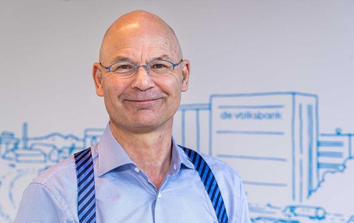 Portret van Martijn Gribnau, directievoorzitter van de Volksbank.
