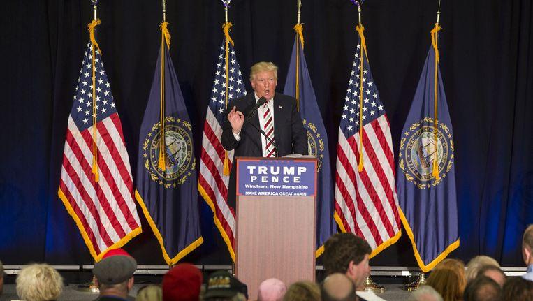 Trump heeft een 'Gold Star-familie' beledigd. Niet zijn eerste belediging maar wel een ernstige. Beeld AFP