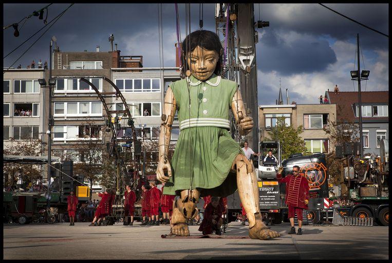 De Reuzen van Royal de Luxe (2010). Beeld Yann Bertrand